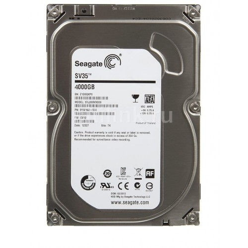 ST4000VX007, SV35 Series, 4TB SATA Hard Drive for Security Systems