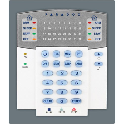 SP7000, 16 to 32 Zone Control Panel